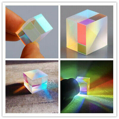 Optical Glass X-cube Dichroic Cube Prism RGB Combiner Splitter 5/10/15/18/20mm