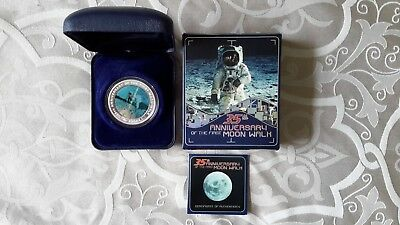35th Anniversary of the moonwalk ...2004 silver $1 coin set boxed....Perth Mint