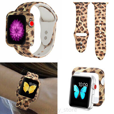 US Leopard Print Silicone Watch Band Wrist Strap For Apple iWatch Series 1 2 3 4