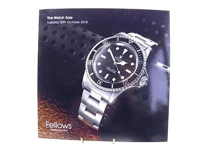 Auction catalogue The Watch Sale Fellows 30th October 2018 Rolex Patek Philippe
