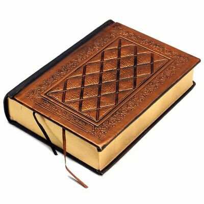 Vintage Journal Blank Hard Leather Cover Sketchbook Writing Paper Diary Notebook