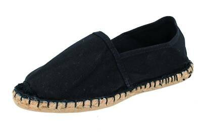 DE FONSECA uomo espadrillas mocassini slip on tessuto canvas fashion nero
