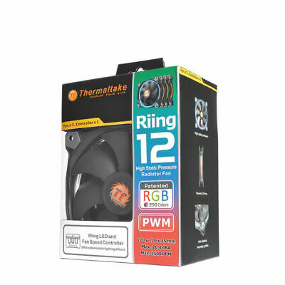 Thermaltake Riing 12 LED RGB High Static Pressure Radiator Fan (3 Pack)