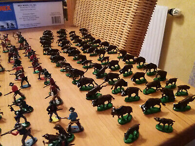 Figren Maßstab 1:72 Wild West ca. 150 Figuren + 60 Bisons