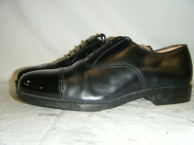 Mens Black Leather Parade Shoes British Army RAF Cadet With Toe Cap Size 8 M (6