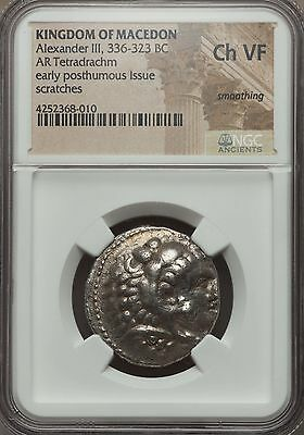 Alexander III the Great 336-323 BC AR Tetrarachm NGC CH VF - Macedon (68010)