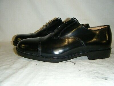 Mens Black Leather Parade Shoes British Army RAF Cadet With Toe Cap Size 8 M (7