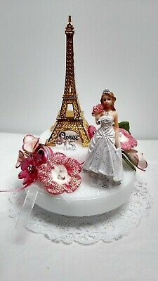 Quinceanera Sweet 15 16 Birthday Cake Topper Centerpiece Party Decoration