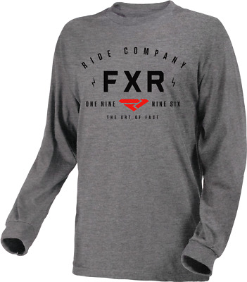 FXR Men's Ride Co Long Sleeve Heather Grey/Red (191312-0720)