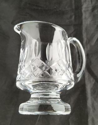 Waterford  Crystal Lismore  Pattern Footed Creamer Milk Handle 4 1/2 inch Signed