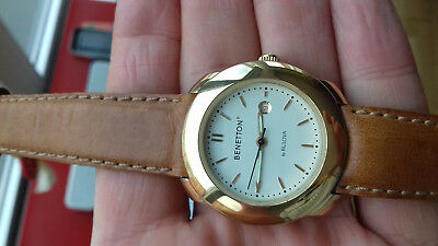 BENETTON BY BULOVA MECHANIC (hand-winding)WATCH VINTAGE COLLECTION(1987)NOS UHR