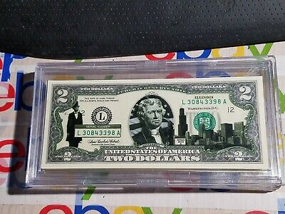 2003 Uncirculated $2 Two Dollar Bill ILLINOIS State Overprint Series A