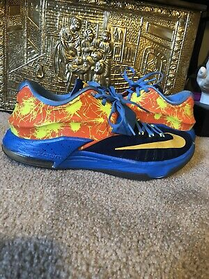 a8657a3fec20 Mens Nike ID Custom Kd 7 Kevin Durant Multi Color Basketball Shoes Size 11
