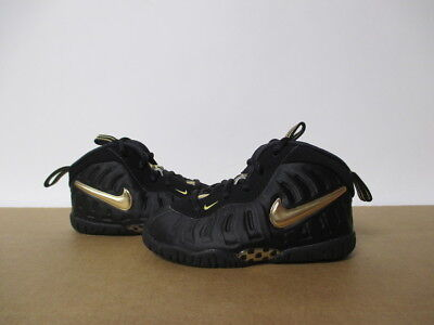new products fb25a ecb1b Nike Little Posite Pro Foamposite Black Metallic Gold Toddler 5-10