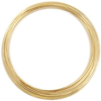 Memory Wire Necklace 0.62mm .5oz-gold-plated - 18 Coils