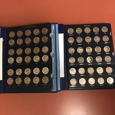 1938-2018-S BU & Proof Jefferson Nickel Set - Complete - Whitman Albums