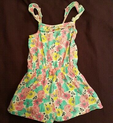 Peppa Pig Summer Playsuit all in one Age 18-24 Months From George Smoke Free