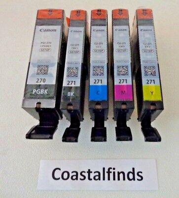 Canon PGI 270 CLI 271 Ink Cartridge Set of 5 CMYK NEW OEM Genuine Sealed Setup