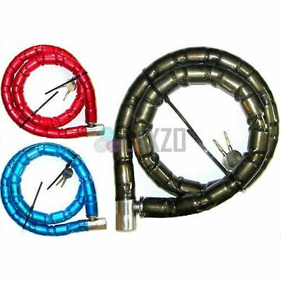 Bicycle Motor Bike Heavy duty Safety cable lock 1, 1.2 meter 25 mm Blue 1.2m