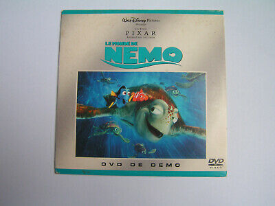 DEMO DVD FINDING NEMO French edition WALT DISNEY PIXAR Le monde de NEMO