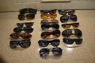 Lot of 18 Vintage Eyeglass/Sunglass/Safety Glasses ICU Foster Grand Fossil (T)