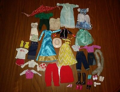 BARBIE Doll Clothes - 25 pcs. of Clothes & 9 pair of  Shoes
