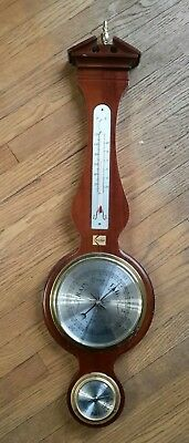 Vintage Howard Miller Presque Isle Barometer Weather Station KODAK Badge 612-712