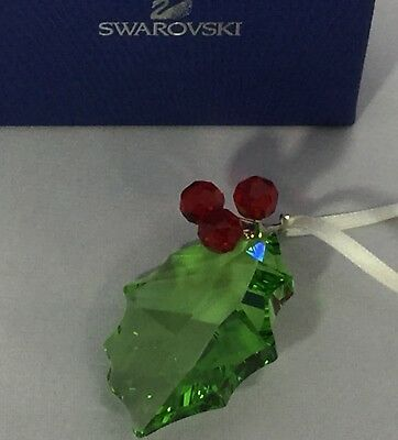 6d22304f571e Swarovski Crystal Christmas Ornament Holly Leaf   Berries Festive Great  Gift!