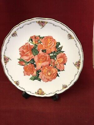 """Royal Albert Wall  Plate Queen Mother Favourite Flowers """" Elizabeth Of Glamis"""""""