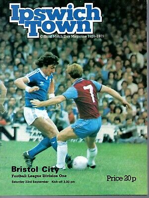 Ipswich Town v Bristol City 23 Sept  1978 Division One Programme