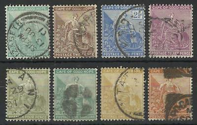South Africa / Cape Of Good Hope Qv 1893-98 New Colours Set Used