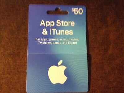 $50 Apple Gift Card iTunes & App Store FREE SHIPPING  - US only