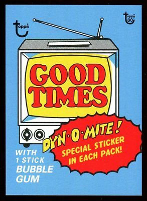 2018 Topps 80th Anniversary Wrapper Art #80 ~ SSP /270 ~ 1975 Good Times