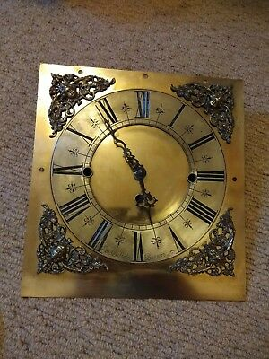 Grandfather clock dial bulkeley burton 27.5x29cm fitted with a quartz movement.