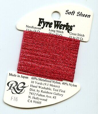 "Rainbow Gallery Fyre Werks Soft Sheen FT6 Brght Christmas Red 1/16th"" metallic"