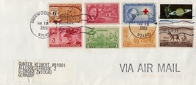 Us 1995 From Sherwood To Germany Postal History Cover Vf
