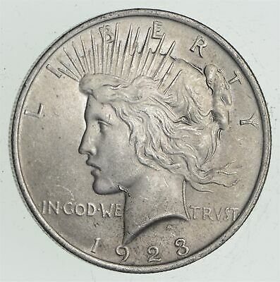 Early - 1923 - Peace Silver Dollar - 90% US Coin *668
