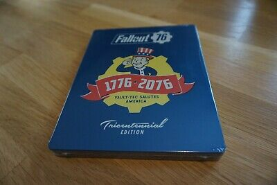PS4 Fallout 76 Power Armor Exclusive Steelbook Tricentennial Edition NEW/SEALED