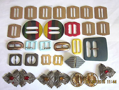 ~VINTAGE WOMEN'S BELT BUCKLES - ASSORTMENT x 29 - ALL GC~