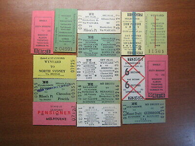 Railway Tickets Bulk Lot Mint & Cancelled 15 MIXED TICKETS