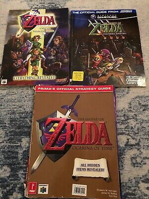 Lot Of 3 THE LEGEND OF ZELDA: FOUR SWORDS ADVENTURES OFFICIAL PLAYER'S GUIDEs