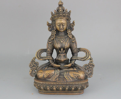 china antique Copper Hand Carved Buddhist Statue of Buddha c02