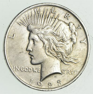 Early - 1923 - Peace Silver Dollar - 90% US Coin *661