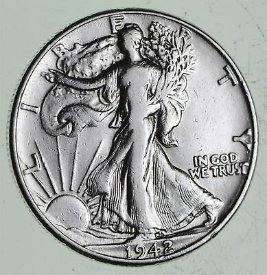 Strong Feather Details - 1942 Walking Liberty Half Dollars - Huge Value *525