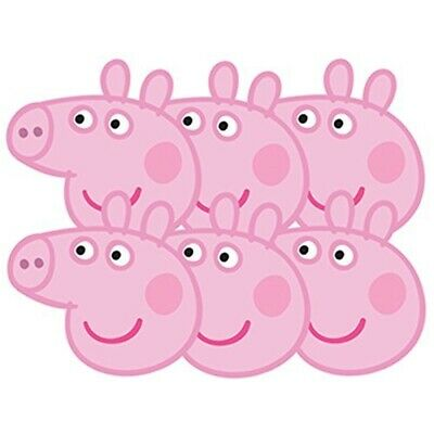Peppa Pig - Peppa Pig Cardboard Masks 6-pack - Party Face 6 Pack