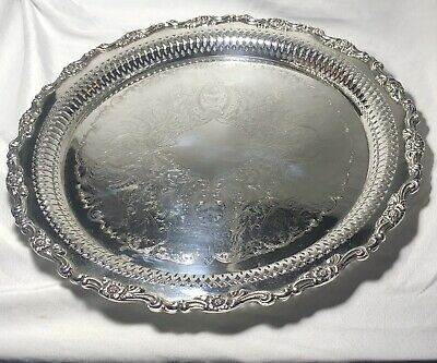 RARE Oneida Silver Plate Serving Tray Platter Vintage Silverplate Antique 1925