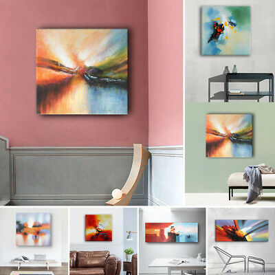 Framed Hand Painted Abstract Oil Paintings On Canvas Modern Home Decor Wall Art