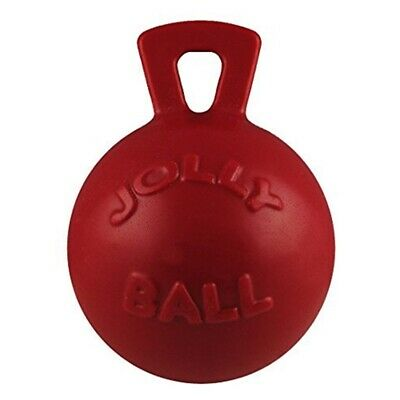 Jolly Pets 6-inch Tug-n-toss, Red - Ball Tugntoss Pride Horsemens Toy 6