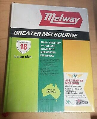 1988 Melway Greater Melbourne Street Directory - Edition 18 Hardcover Large Size