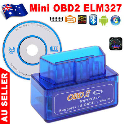 AU OBDII OBD2 ELM327 Bluetooth Car Scanner Torque Android CAN BUS Auto Scan Tool